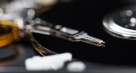 hard disk: Open Hard Disk Drive (detailed close-up shot)