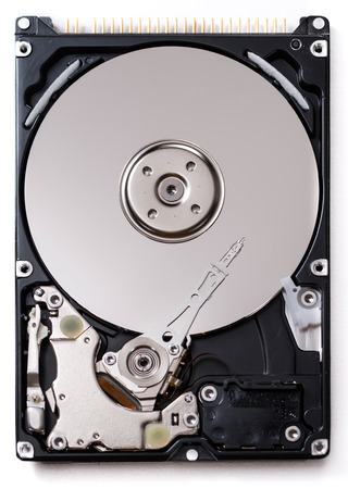 Open Hard Disk Drive (detailed close-up shot)