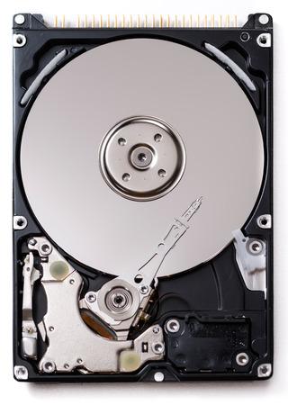 hard disk drive: Open Hard Disk Drive (detailed close-up shot)