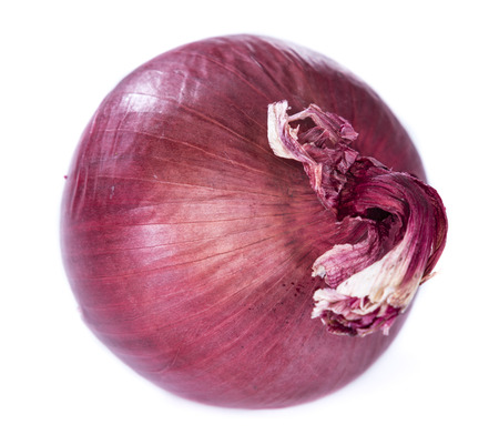 red onions: Red Onions (close-up shot) isolated on white background Stock Photo