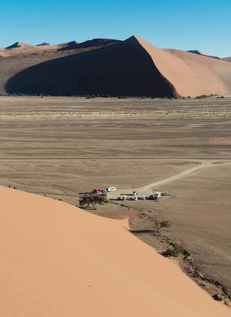 45: World famous dune 45 near Sossusvlei in the Namib Desert (Namibia)