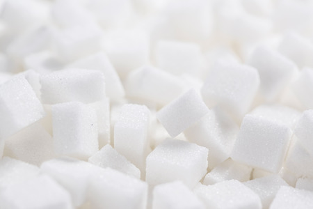 sweeten: White Sugar cubes (full frame image) for use as background image or as texture Stock Photo
