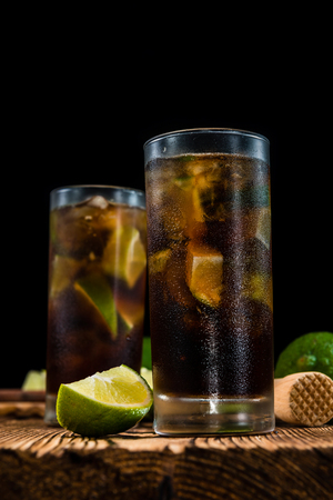 longdrink: Fresh made Cuba Libre with brown rum and tasty lime