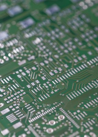 circuitos electronicos: PCB con diferentes circuitos electr�nicos (close-up shot)