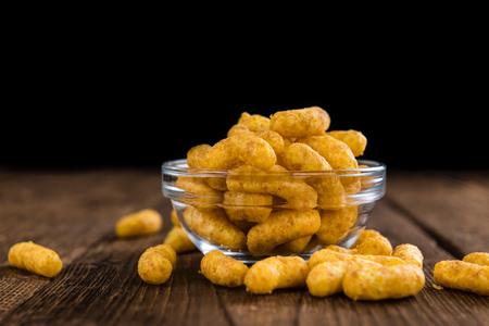 puffs: Heap of Peanut Puffs (selective focus; detailed close-up shot) Stock Photo
