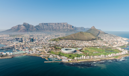 Kapstadt, Südafrika (Luftbild) schoss aus einem Hubschrauber