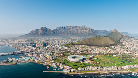 Cape Town, South Africa (aerial view from a helicopter) Stock Photo