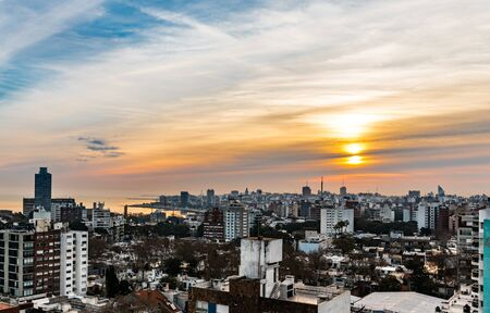 Montevideo (the capital of Uruguay in South America) at a very nice sunset