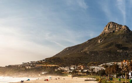 Camps Bay (Cape Town), Soutch Africa with a fantastic sky during winter season