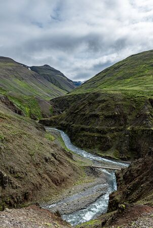Icelandic scenery in the northern part of the country at a cloudy day