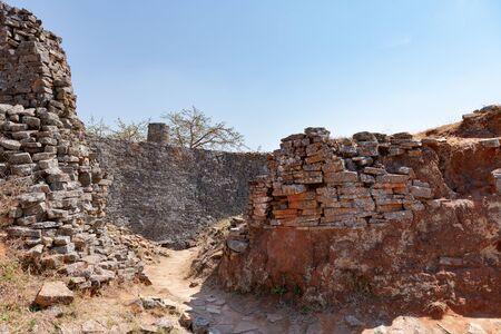 Ancient ruins of Great Zimbabwe (southern Africa) near Lake Mutirikwe