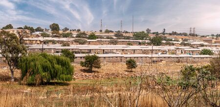 Soweto Townships in Johannesburg, South Africa at a sunny day