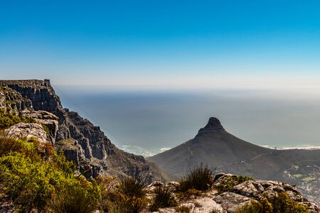Cape Town view from the Table Mountain during winter season