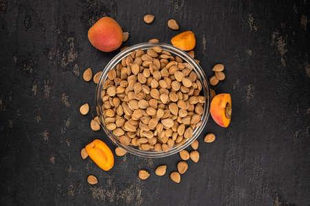 Portion of shelled Apricot Kernels (close up shot; selective focus) Reklamní fotografie