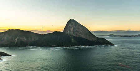 Sunset in Rio de Janeiro, aerial shot from a helicopter Reklamní fotografie