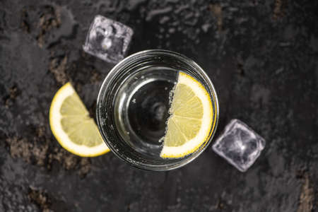 Some chilled sparkling water (detailed close up shot; selective focus) Reklamní fotografie