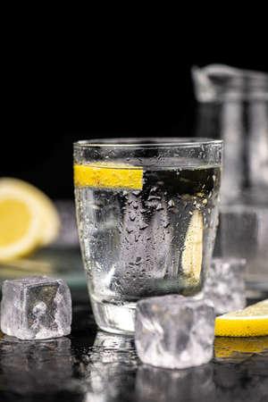 Portion of chilled sparkling water (detailed close up shot; selective focus) Reklamní fotografie