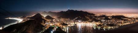 Rio de Janeiro at night view (shot from Sugarloaf hill) Reklamní fotografie