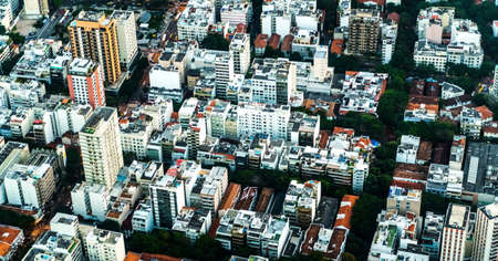 Rio de Janeiro aerial shot during sunset made from a helicopter Redakční