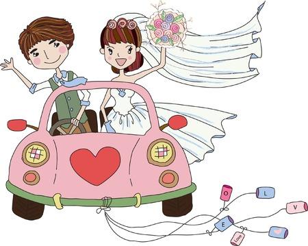 Wedding Bride, bridesmaid  clipart