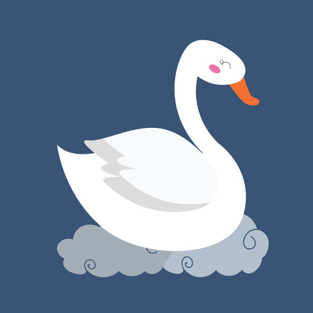 Cute swan illustration.