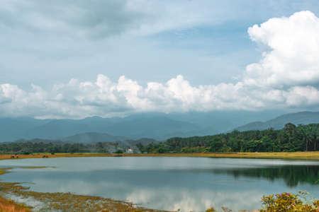 A small lake near a housing area in Kuala Kubu Bharu, a small town in north of Selangor, Kuala Lumpur