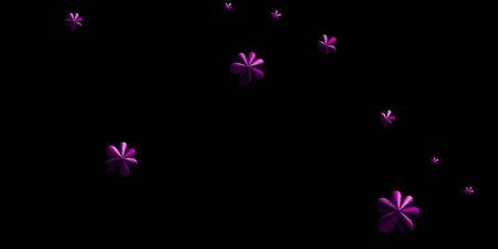 Futuristic purple flower wallpaper, modern contemporary presentation cover design, beauty volumetric industrial, business background, 3D illustration, 3D rendering 免版税图像