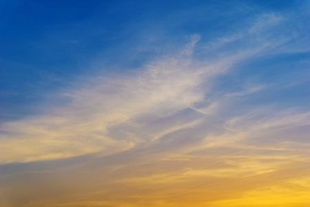 background of nature sky and cirrus cumulus clound beautiful light