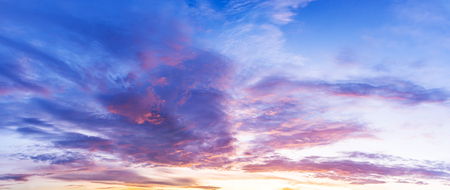 Beautiful morning twilight sky and colorfull cumulus clouds at draw pastal tone.
