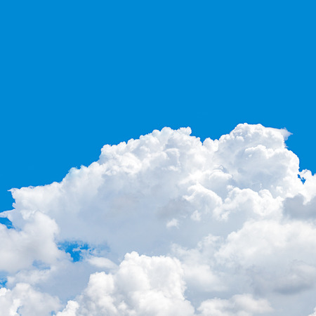 Top of cumulus cloud and blue sky at the day 1:1 size photo