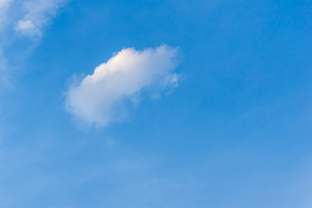 Clear sky blue color and single cumulus fluffy cloud Stock Photo