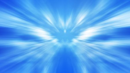 Abstract motion zoom blur background blue and white color