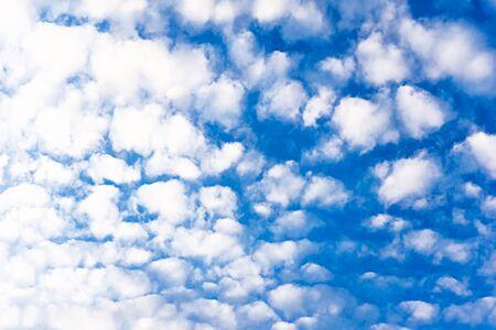 Nature pattern of cloudy blue sky background Фото со стока