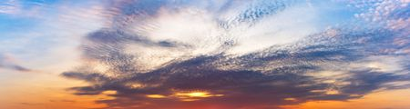 Nature sky and clouds at moring twilight panorama background