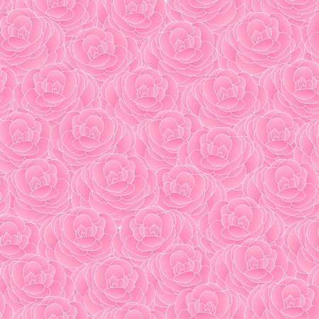 Pink Camellia flower  background high density texture design seamless vector pattern