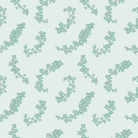 Green ivy vine seamless pattern vector nature florals background Ilustrace