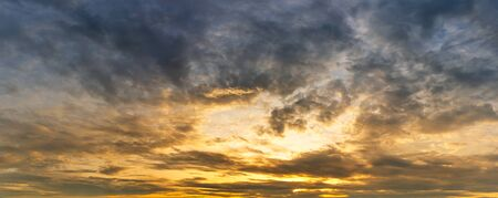 Cloudy morning golden hour sky nature background sunrise or sunset scene Reklamní fotografie