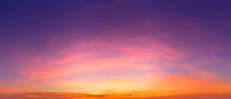Twilight sky and cirrus clouds panorama nature background