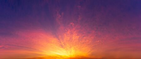 Panorama nature  sky background, twilight time before sunrise or after sunset scene.
