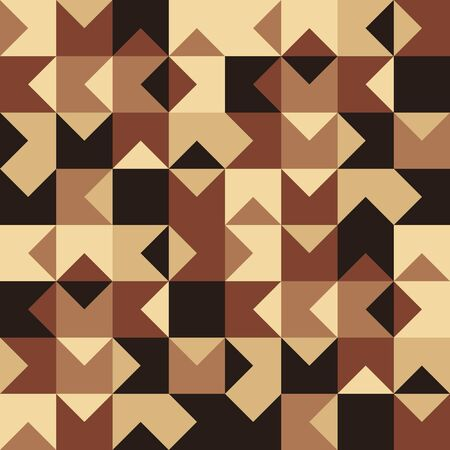 Abstract geometric shape seamless pattern vector vintage wooden floor tile background