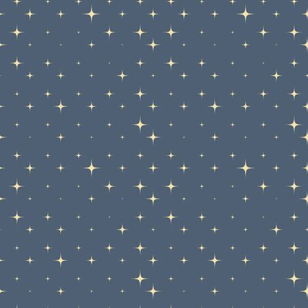 Gold sparkle stars on the gray sky seamless pattern vector minimal outer space background