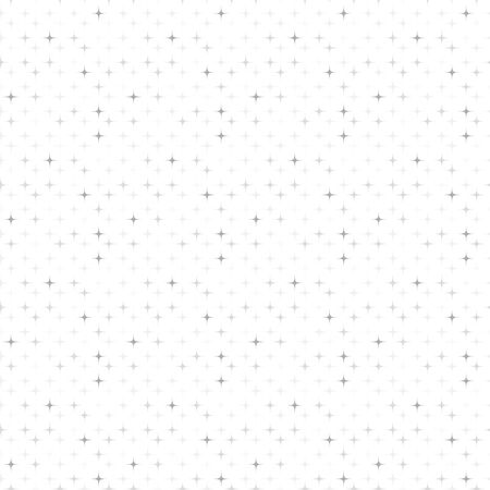 Small silver sparkle stardust motifs on white background seamless pattern vector bokeh Иллюстрация