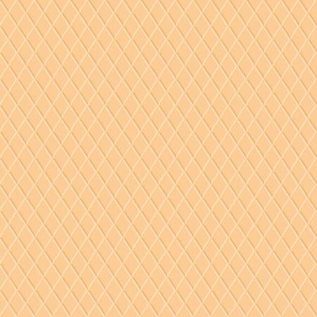 Wafer texture seamless pattern vector dessert background