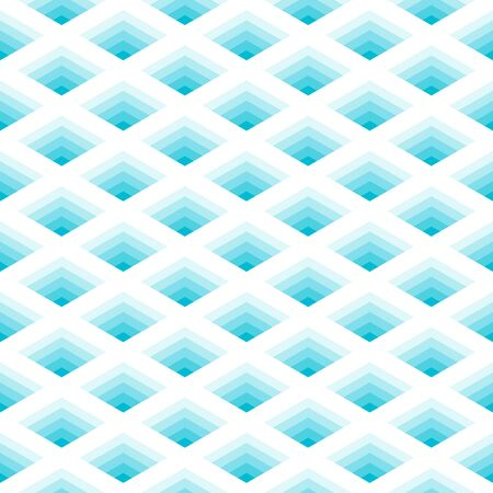 Abstract geometric mesh seamless pattern vector illusion hole background cyan monochrome color Фото со стока - 147150963