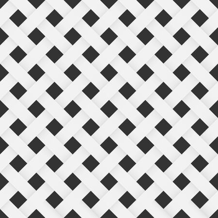 Mesh fabric texture seamless pattern abstract geometric vector black and white background Фото со стока - 147150954