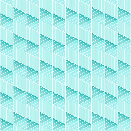 Abstract texture geometric lines seamless pattern vector wallpaper torquise background