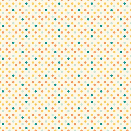 Small colorful polka dot seamless pattern vector retro wallpaper vintage background Фото со стока - 147150984