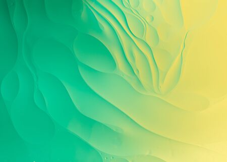 Abstract background oil and water macro photography green wallpaper Фото со стока - 148038864
