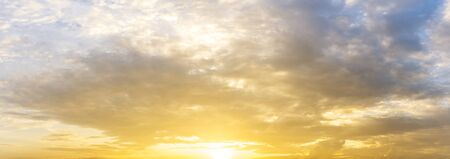 Morning golden sunrise sky panorama nature background Фото со стока