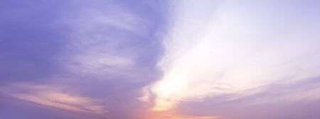 Colorful pastel morning sky panorama cloudscape background Фото со стока
